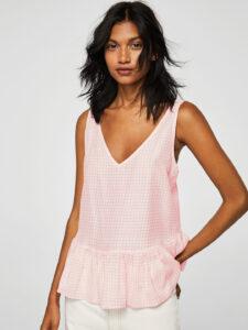 pink a line top
