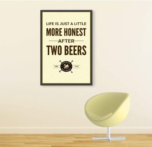 poster for beer lover