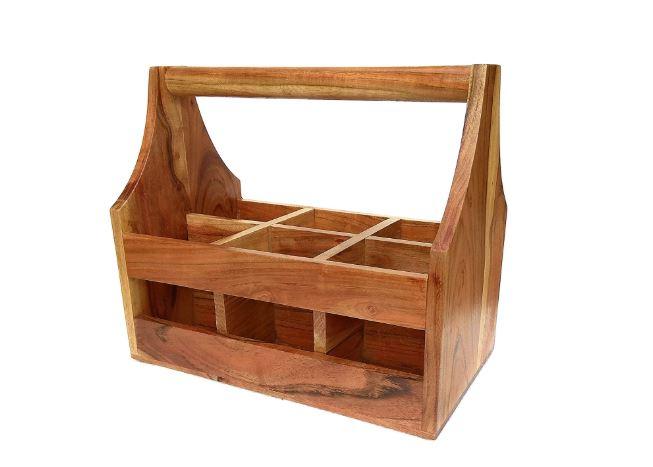 wooden beer carrier for beer lovers