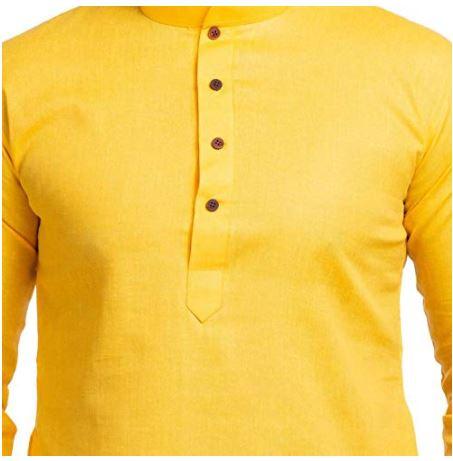 Yellow kurta for Diwali