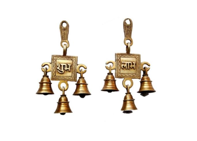 subh labh hanging bell for Diwali decoration