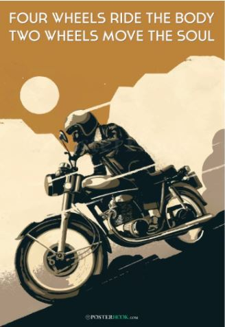 poster for bikers