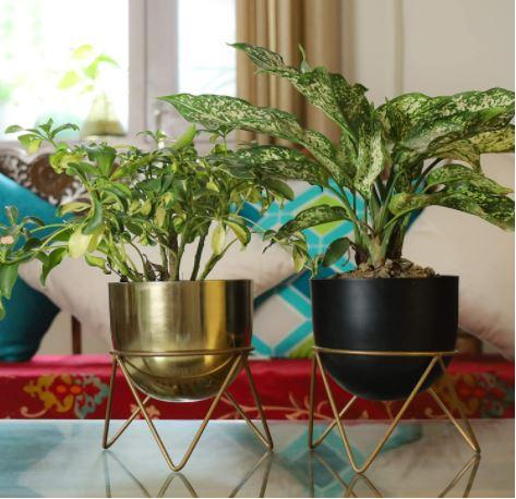 metal pots for home decor