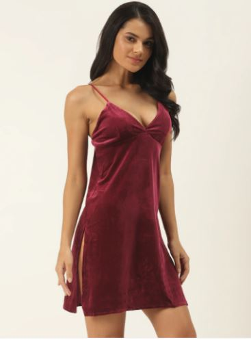 red velvet lingerie