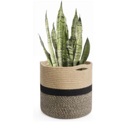 woven planter for home decor